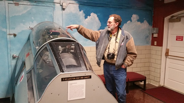 Dean explains how the canopy and ejection seat worked.