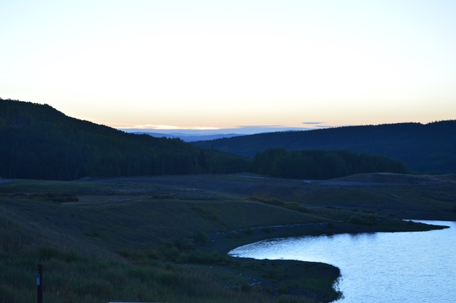 Flat Tops Wilderness Area, Colorado, at dawn (picture taken by Wilbur D. Huey)