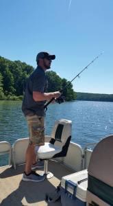 David fishing on Glendale Lake