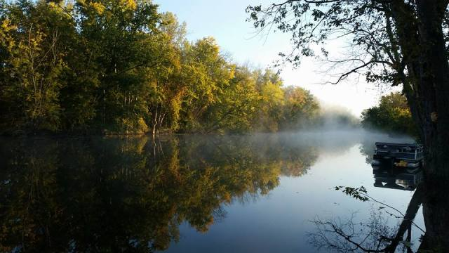 View from our campsite along the Maple River in Michigan, October 2016
